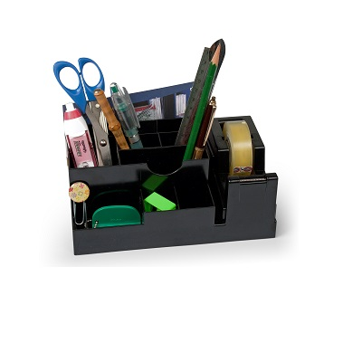 DESK ORGANIZER ABS C/DISPENSER